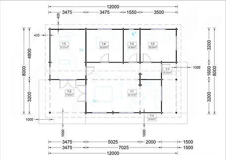 plano modelo Linda 74m2-3 dormitorios
