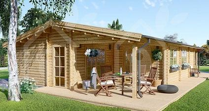 casa de madera modelo linda 79 m2 más terraza