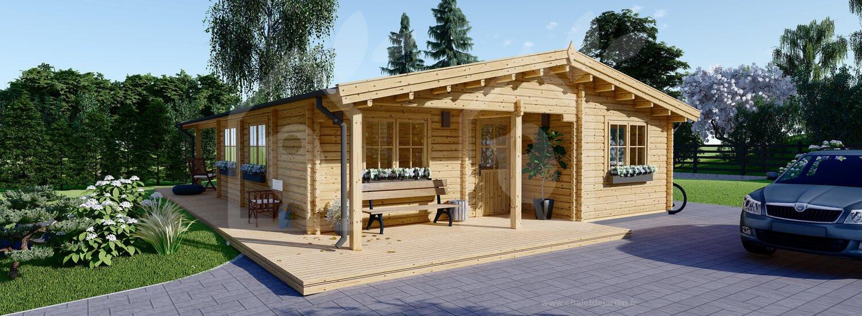 modelo Linda 72 m2 fachada con terraza 17,65 m2