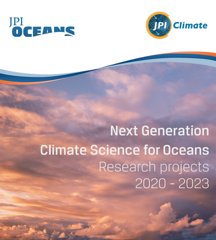 New booklet: Next Generation Climate for Oceans – Research projects 2020-2023