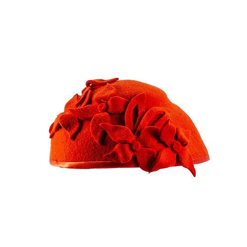 Zuiver rode Dames hoed