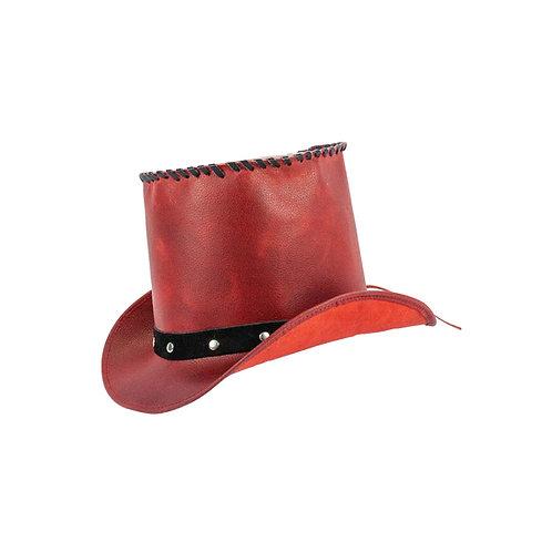 Niets is eleganter dan een mooie leren hoge hoed.