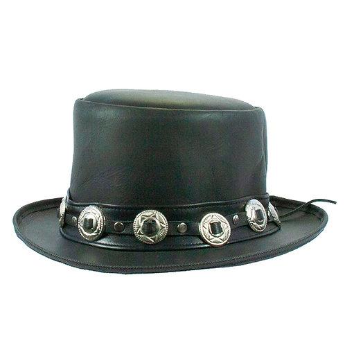 Mooi leren hoge hoed