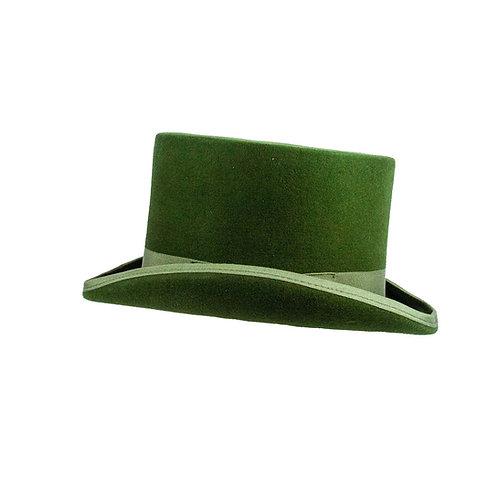 Wolvilten hoge hoed met elastieke binnen rand