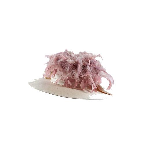 Licht zalm Dames hoed
