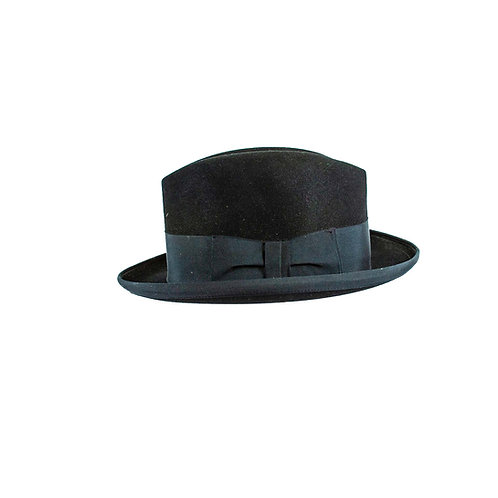 Zwarte gangster hoed met een brede band