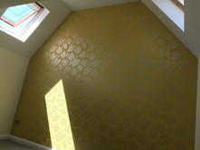 Metallic feature wallpaper