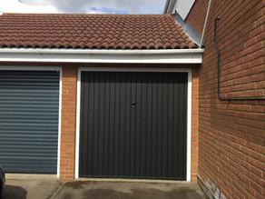 Garage door sand and repaint