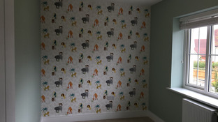 Jungle theme nursery wallpaper