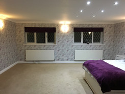 Bedroom wallpaper - all walls throughout