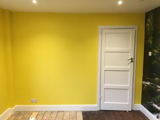 Playroom full repaint & wallpaper mural