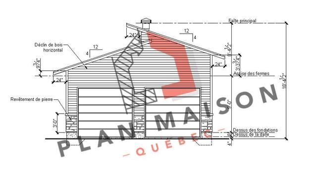 plan de maison bungalow avec garage