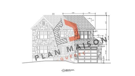 plan maison en l avec garage
