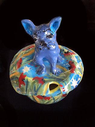 Blue Dog Sugar Bowl