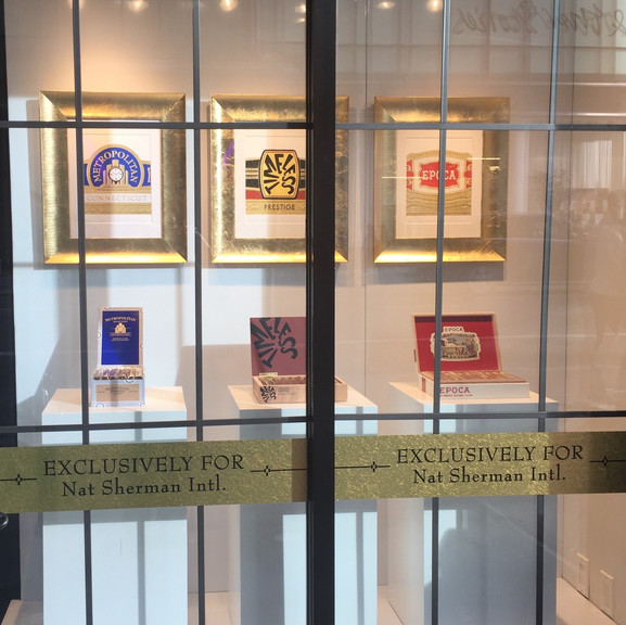 Nat Sherman Window Display