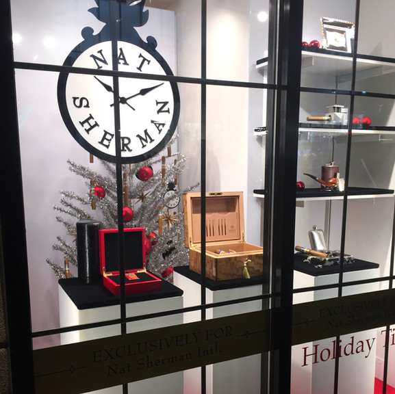 Nat Sherman Holiday Window