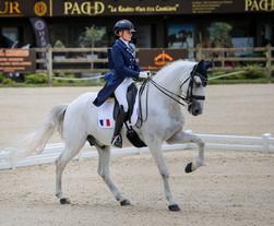 Championnats d'Europe : Mathilde Juglaret & Caporal de Massa 10 èmes de l'Individuelle Juniors