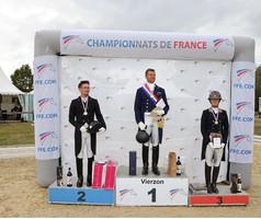 Bernard Bosseaux et Rilkadora Z, champions de France Pro 1