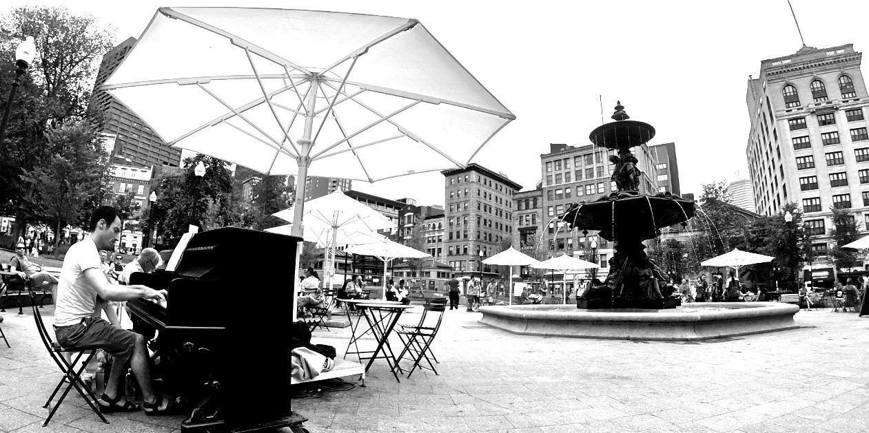 Street piano concert Boston