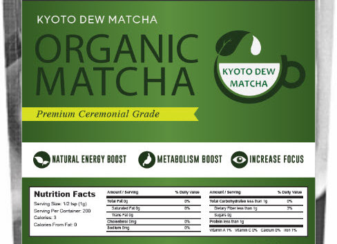 Organic Premium Ceremonial Grade Japan Matcha Green Tea 7oz. Bag (200 grams)