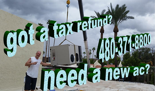 Use your tax refund for a new ac