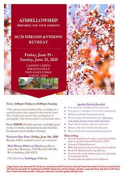 AFBF Dreams and Visions June Retreat Fly