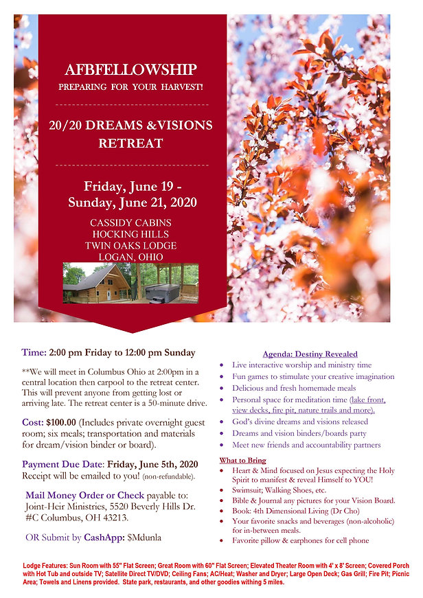 AFBF Dreams and Visions June Retreat Fly