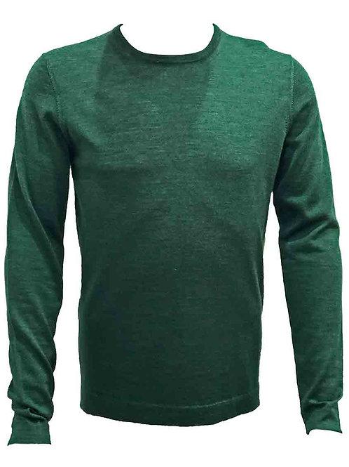 Teodori Forrest Green Crew-neck Pullover