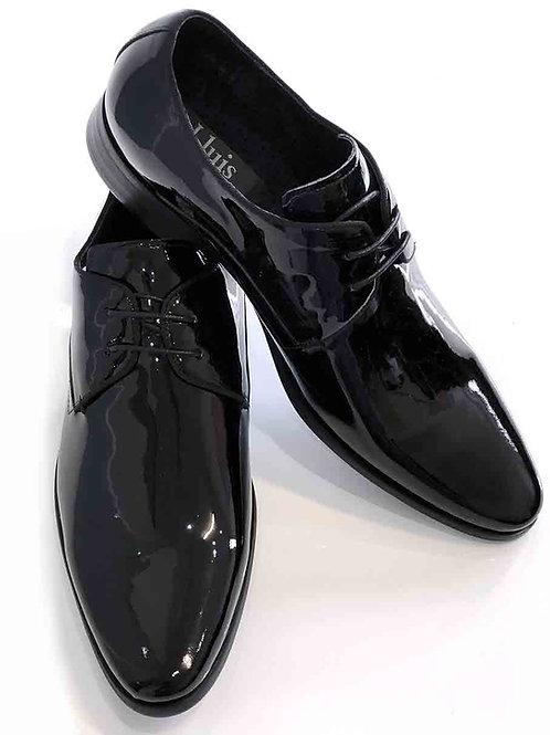 Lluis Black High Polished Leather Shoe