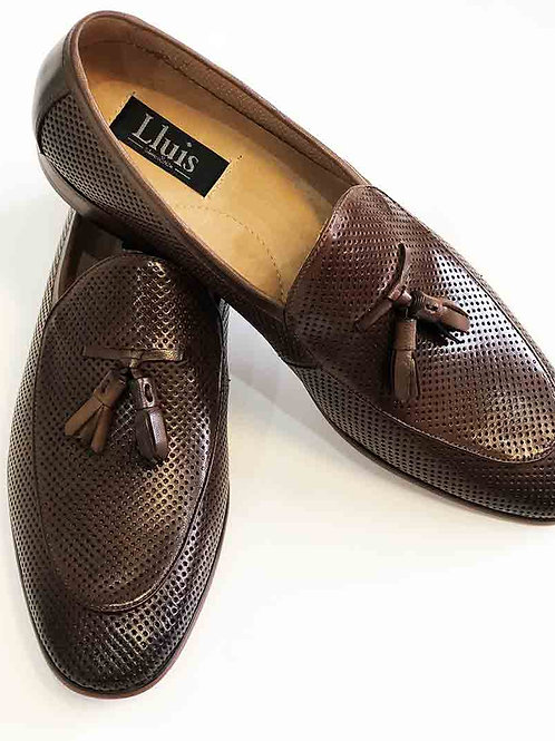 Lluis Brown Punch Hole Leather Shoe