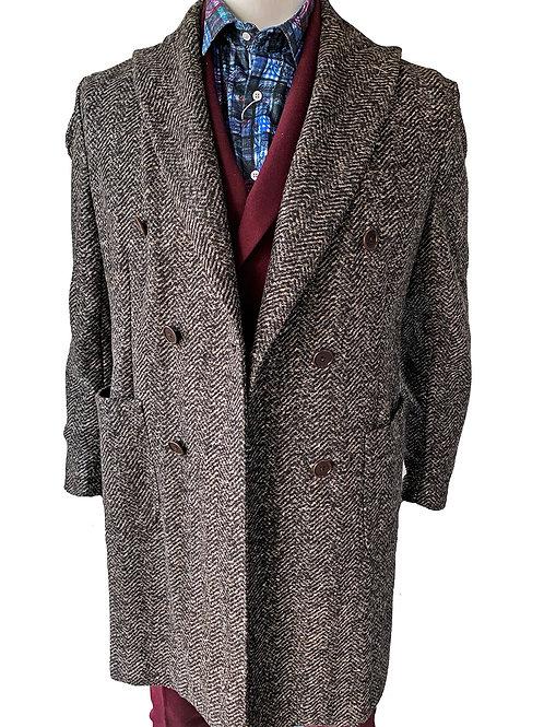 Carracci Herringbone Overcoat