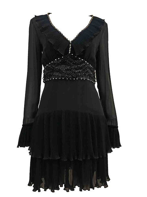 Just Cavalli Black Frill Dress