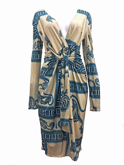 Versace Greek Key Dress