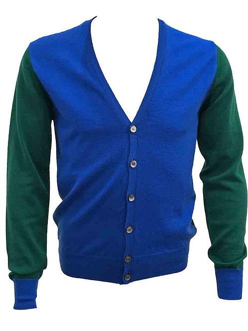 Mas.Q Blue & Green Cardigan