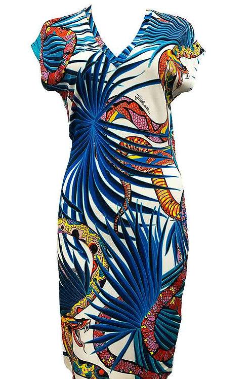 Just Cavalli Serpent Pattern Dress