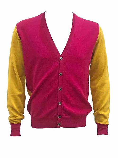 Mas.Q Pink & Yellow Cardigan