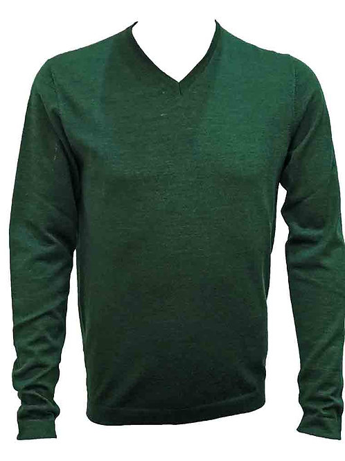 Teodori Forest Green V-neck Pullover