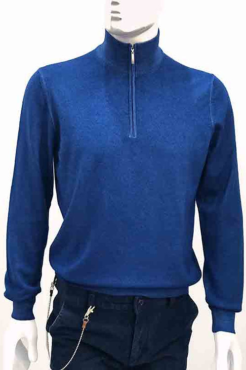 Gran Sasso Electric Blue Turtle Neck