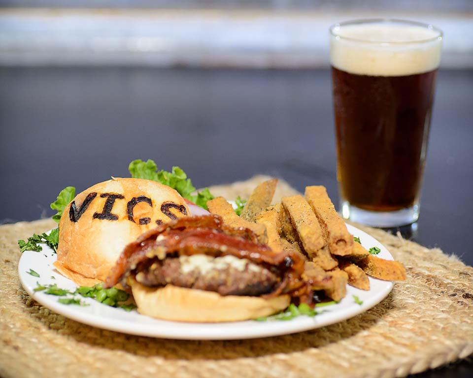 Victoria's Crab Shack Bacon Burger