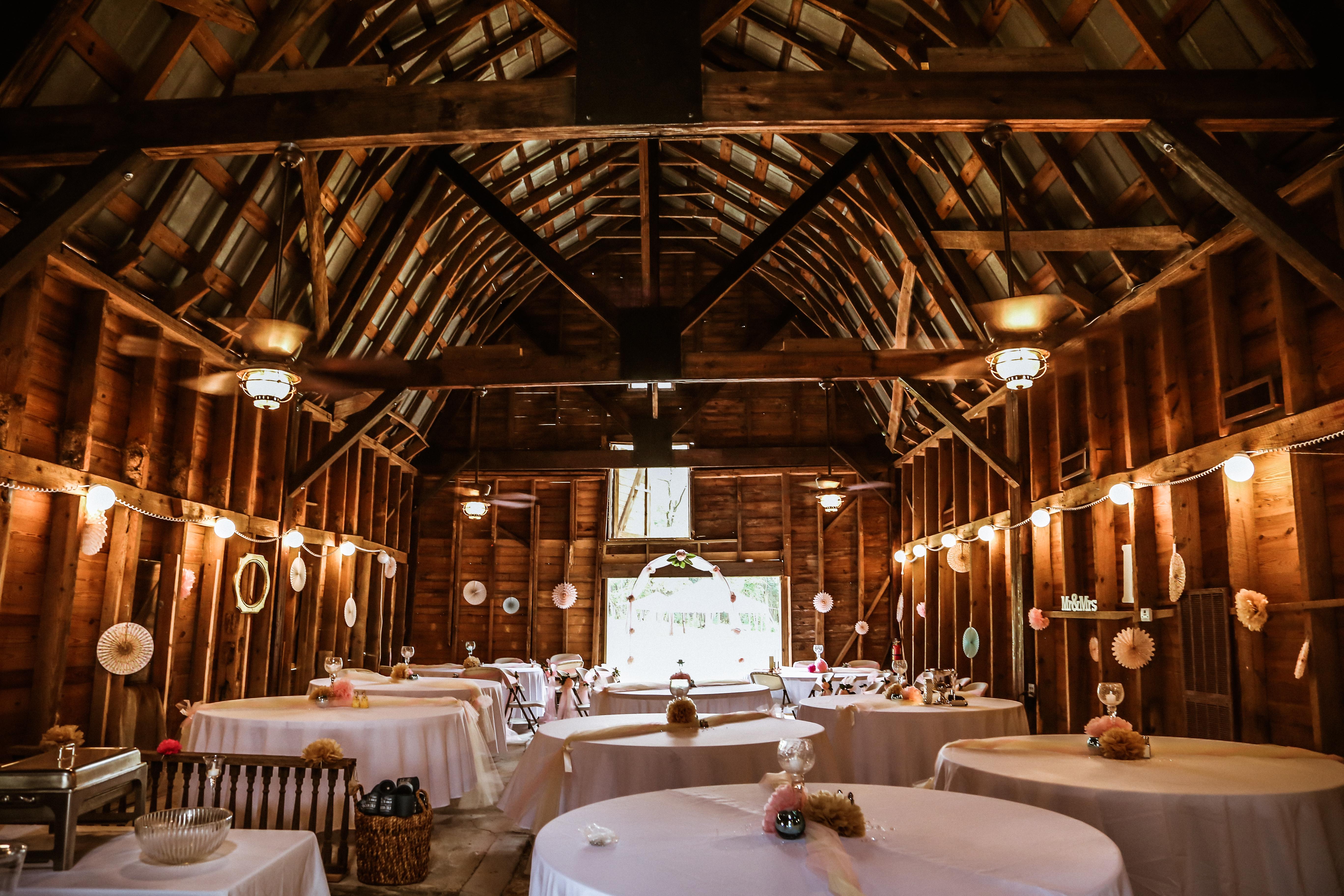 Pine Log Plantation Horse barn int