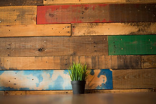 Reclaimed pallet wood walls set the stage for an incredible supper at Southern Social