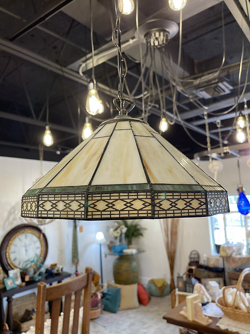 Craftsman style Stained Glass Pendant