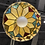 Thumbnail: 1970's Colorful Stained Glass Pendant
