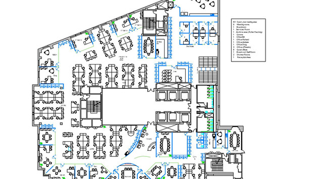 Typical Office layout Drawing