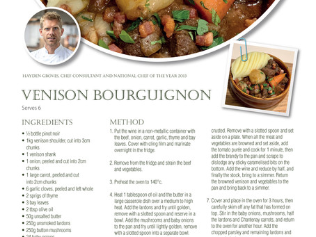 Venison Bourguignon - Hayden Groves, Chef Consultant & National Chef Of The Year 2013