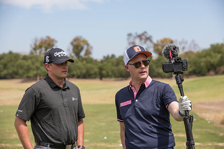 Mark Crossfield on shoot reviewing the Cleveland Golf CBX wedgs