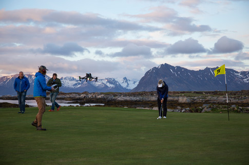 Drone filming with Norwegian TV
