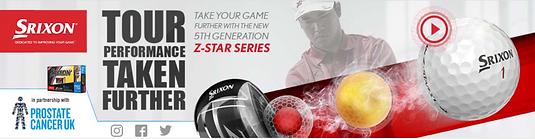 Srixon Z-STAR banner advert