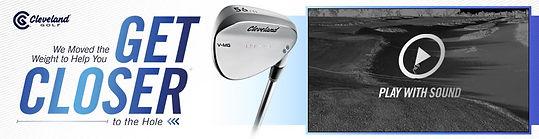 Cleveland Golf RTX 3 banner advert