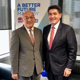 CG Tago with MP Hon Dr Geoffery Lee